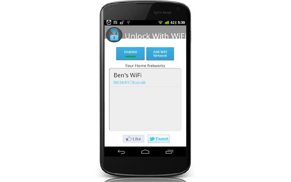Unlock With WiFi, la aplicación que desbloquea tu móvil Android al llegar a casa